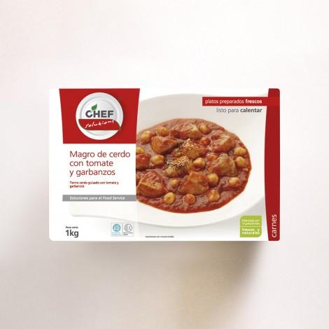 Magro de cerdo con tomate y garbanzos – 1Kg