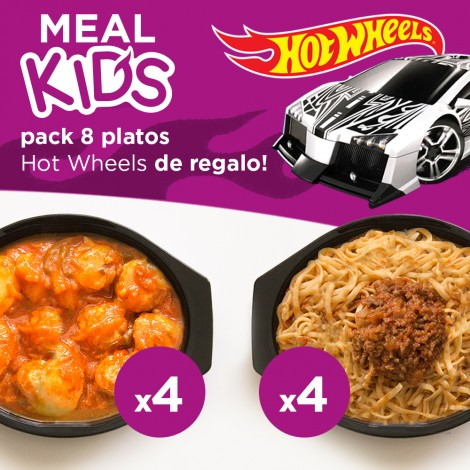 Pack Familia y Niños 8 platos con Hot Wheels de regalo